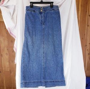 Lauren Jeans Denim long skirt sz 8